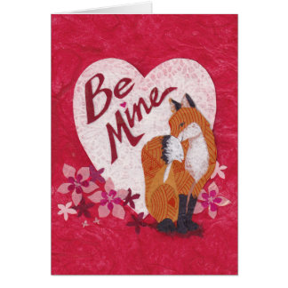 Sweet Valentine Fox for Her Card