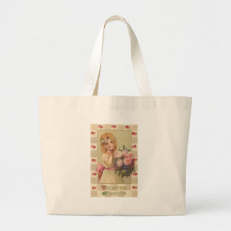 Sweet Valentine Girls with Floral Bouquets (2) Bag