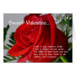 Sweet Valentine-Red Rose+Quote