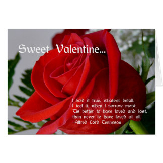 Sweet Valentine-Red Rose+Quote Cards