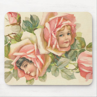 Sweet Valentine Rose Children (3) Mouse Pads