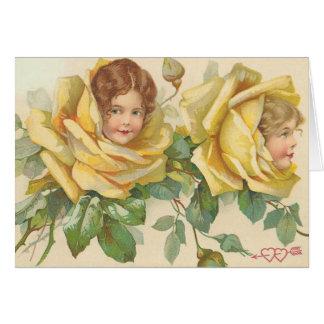 Sweet Valentine Rose Children Greeting Card