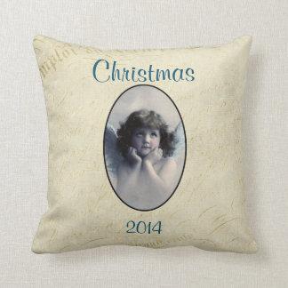 Sweet Vintage Angel Christmas Memento Pillow