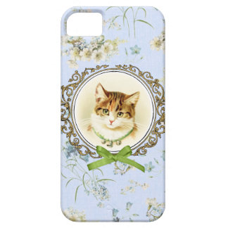 Sweet vintage cat portrait barely there iPhone 5 case