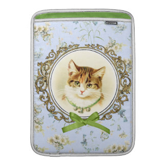 Sweet vintage cat portrait sleeve for MacBook air