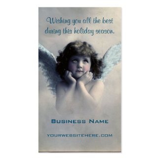 Sweet Vintage Christmas Angel Pack Of Standard Business Cards