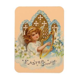 Sweet Vintage Easter Angel Rectangular Photo Magnet