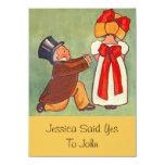 Sweet Vintage Engagement Announcement Invitations 11 Cm X 16 Cm Invitation Card