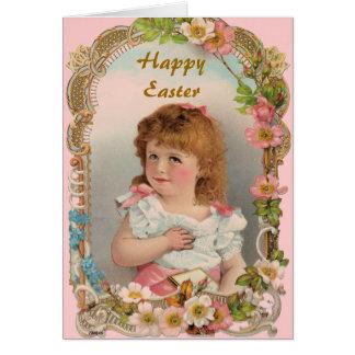 Sweet Vintage Girl Greeting Card