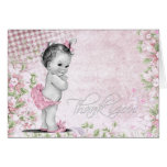 Sweet Vintage Pink Baby Shower Thank You Cards