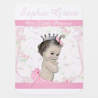 Sweet Vintage Pink Princess Baby Pramblanket