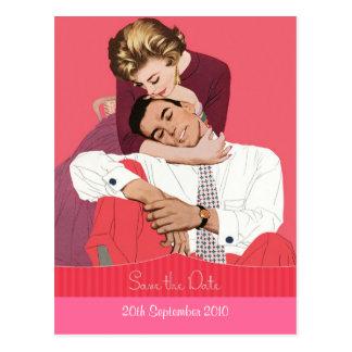 Sweet Vintage Save the Date Wedding Postcard