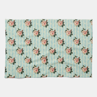 Sweet Vintage Shabby Chic Roses Floral Kitchen Towels