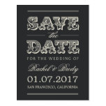 Sweet Vintage Wedding Save The Date - Charcoal