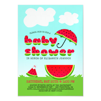 Sweet Watermelon Baby Shower Magnetic Card