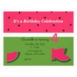 Sweet Watermelon Birthday Invitation