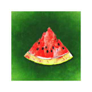 Sweet Watermelon Summer Canvas Wall Art