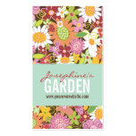 Sweet Whimsical Spring Flowers Colourful Garden Pack Of Standard Business Cards