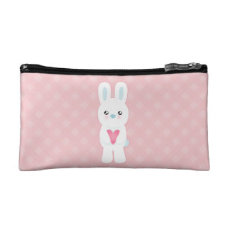 Sweet White Bunny Cosmetics Bags