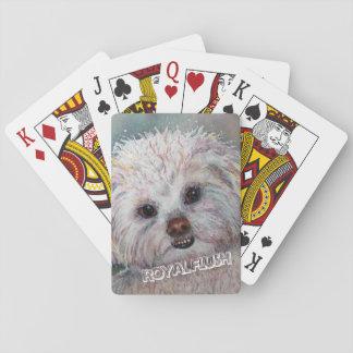 SWEET WHITE MALTESE YORKIE MIX PLAYING CARDS