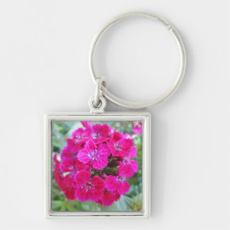 Sweet William Flower Purple Key Chain