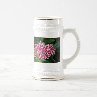 Sweet William Flowers Beer Stein Mugs