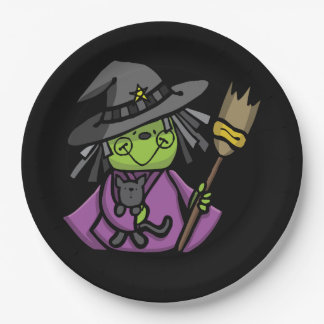 Sweet Witch Halloween Party Paper Plates