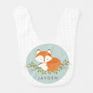Sweet Woodland Fox Baby Bib