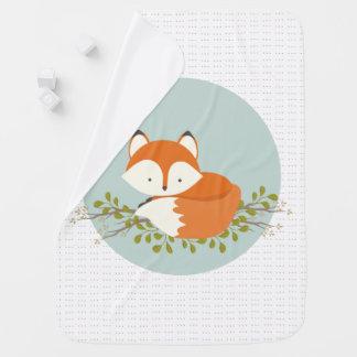 Sweet Woodland Fox Baby Blanket