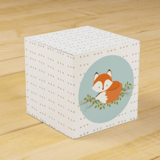 Sweet Woodland Fox Baby Favor Box