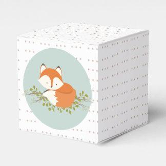Sweet Woodland Fox Baby Favor Box