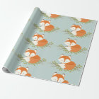 Sweet Woodland Fox Baby Wrapping Paper