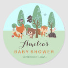 Sweet Woodland Friends Baby Shower Stickers