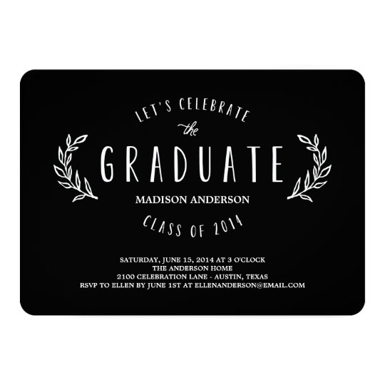 Sweet Wreath | Graduation Invitation