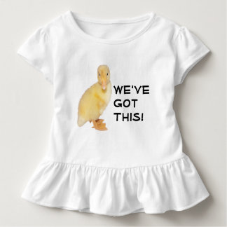 Sweet Yellow Duckling Profile Photograph Toddler T-Shirt