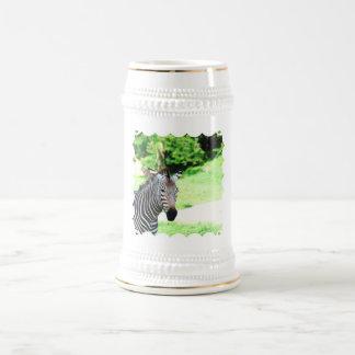 Sweet Zebra Beer Stein Coffee Mug