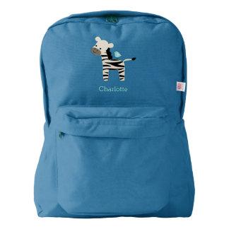 Sweet Zebra Personalised Backpack