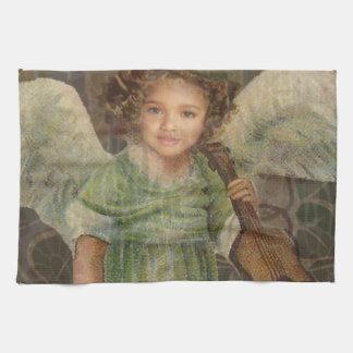 Sweeten - Little Girl Angel Playing a Violin Tea Towel