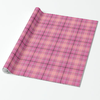 Sweeter Pink Plaid Gingham Pattern Wrapping Paper