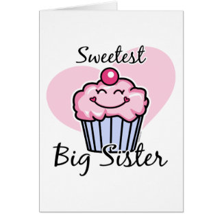 Sweetest Big Sister Greeting Card
