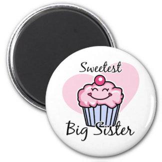 Sweetest Big Sister Fridge Magnets