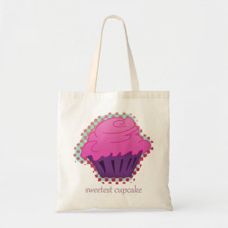 sweetest cupcake budget tote bag