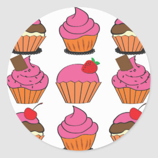 Sweetest Cupcakes Round Sticker