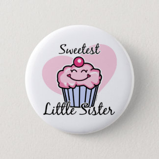 Sweetest Little Sister 6 Cm Round Badge