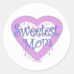 Sweetest Mum Round Sticker