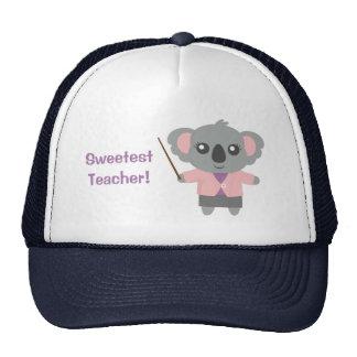 Sweetest Teacher, Cute Koala Bear Hat