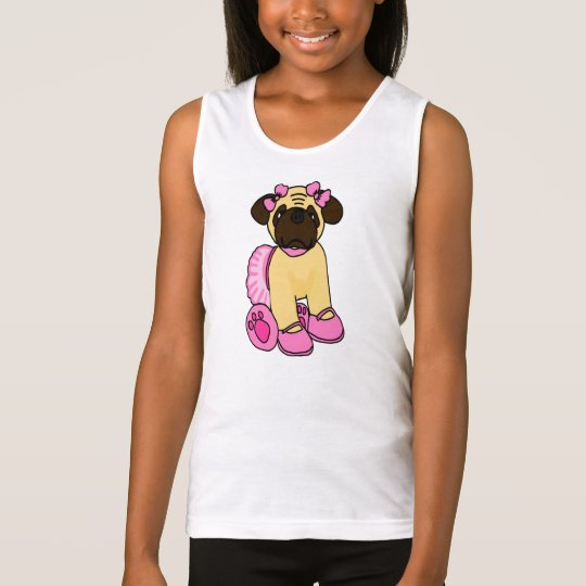 Sweetheart Ballerina Pug Puppy Tank Top