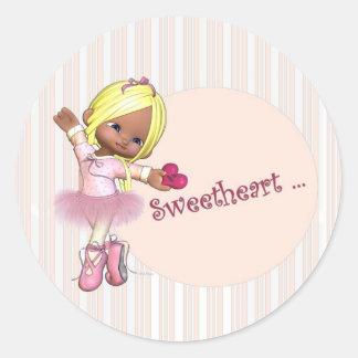 Sweetheart Ballerina Stickers