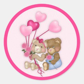 Sweetheart Bears Round Sticker