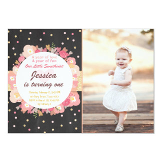 Sweetheart Birthday Invitation Valentine Pink Gold